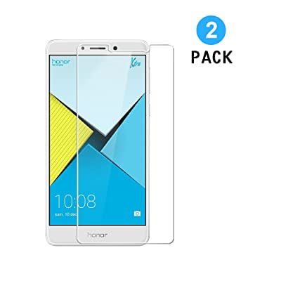 2 Unidades Huawei Honor 6X Protector de Pantalla, WEOFUN Cristal Templado para Huawei Honor 6X Vidrio Templado Protector [0.33mm, 9H Dureza, Alta transparencia]