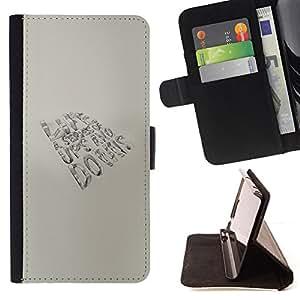 BullDog Case - FOR/Samsung Galaxy Note 3 III / - / LIFE - UPS AND DOWNS /- Monedero de cuero de la PU Llevar cubierta de la caja con el ID Credit Card Slots Flip funda de cuer