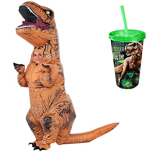Jurassic World Park Child Inflatable T Rex Dinosaur Costume   T Rex Cup