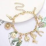 CEALXHENY Women's Link Charm Bracelet Unicorn