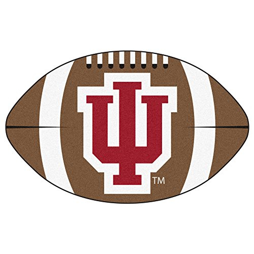 FANMATS NCAA Indiana University Hoosiers Nylon Face Football Rug