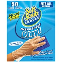 BIG TIME PRODUCTS Soft Scrub 50 Count Disposable Vinyl Gloves