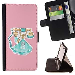 King Case - FOR HTC One M7 - make sure you know - Prima caja de la PU billetera de cuero con ranuras para tarjetas, efectivo Compartimiento desmontable y correa para la mu?eca