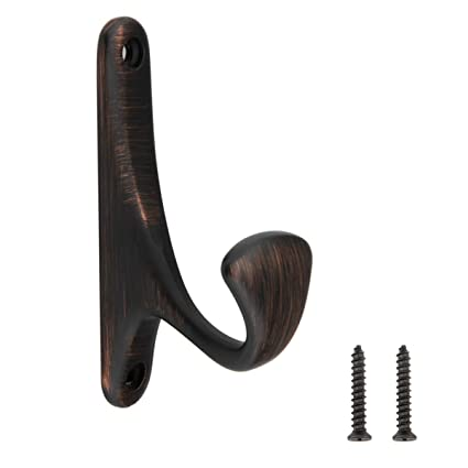 Amazon.com: AmazonBasics Curved Single Prong Coat Hook, Oil ...