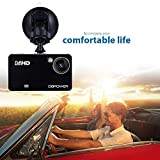 DBPOWER 2.7' 1080P FHD Dash Cam Car DVR Camcorder Dashboard with 120°Viewing Angle, 4XZoom Lens, G-Sensor, Night Vision, Motion Detection, support up to 32GB TF-Card