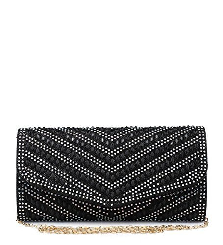 Party M24 Diamante Flap Occasion Dressy Blue Hand Glitter Foldover Bags Prom Clutch Evening Ladies Shimmer Womens tw6qnR0n