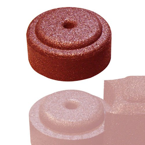 FlexiStack End Cap - Red (Recycled Mulch Border Rubber)