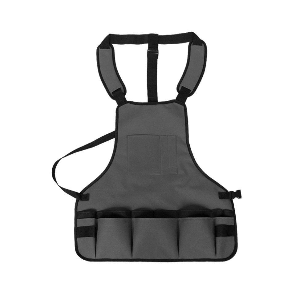 Gray OCSOSO Heavy Duty Canvas Tool Apron w// 16 Pockets