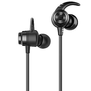 Auriculares Bluetooth inalámbricos de los Deportes de ZDDAB, Auriculares Bluetooth Colgantes del Cuello, Mini