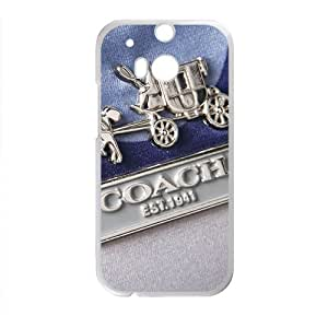 Happy Coach design fashion cell phone case for HTC One M8