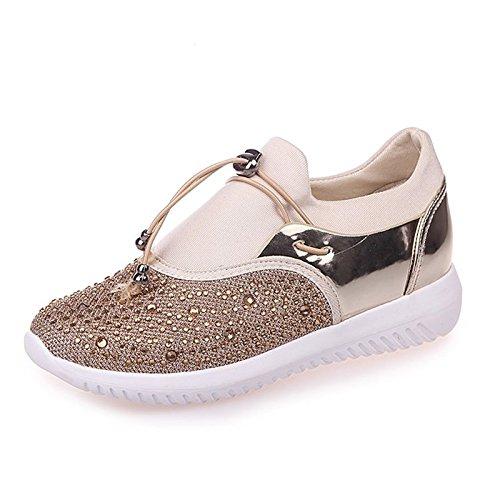 Señoras Las NGRDX amp;G De De Ocasionales Señoras De Vulcanizados Zapatos Las Señoras Las Zapatos Zapatos gold Tenis wBXIrqHXn