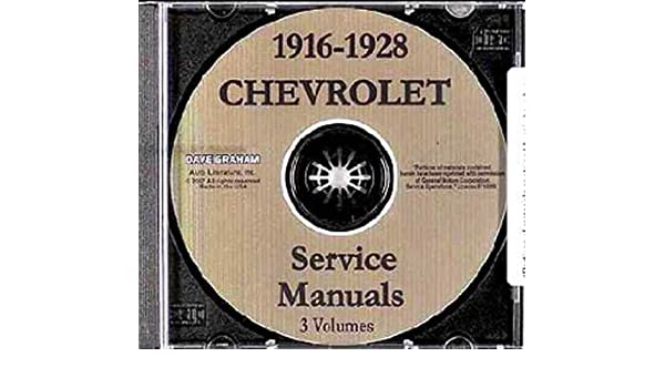 1922 1923 1924 1925 1926 1927 chevrolet repair shop service manual rh amazon com