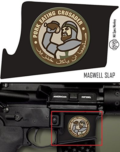 Ultimate Arms Gear Mag Wraps Magwell Slaps MSM Mil-Spec Monkey Pork Eating Crusader AR15/M4/M16 .223 5.56 Waterproof Durable Lower Decal Skin Kit - USA MADE