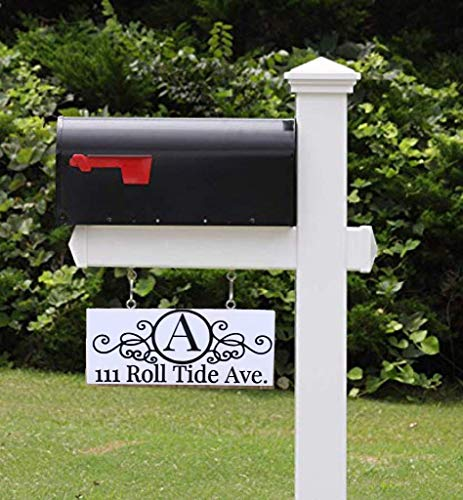 Mailbox Address Sign, Double Sided, Mailbox, Address Plaque, Address Sign, Personalized Mailbox Sign