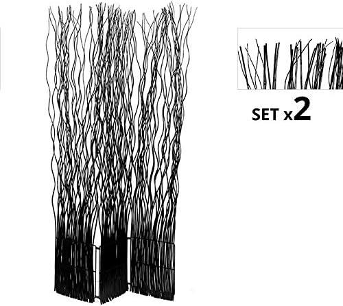 Regalos Miguel - Biombos - Set de 2 Biombos Separadores Kim 3 Hojas Negros - Envío Desde España: Amazon.es: Hogar
