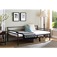 Kings Brand Furniture - Modern Metal Twin Size Daybed Frame with Metal Slats Support, Bronze Finish