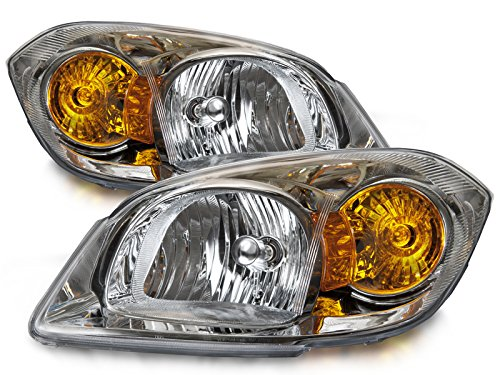 HEADLIGHTSDEPOT Compatible with Chevy Cobalt Headights OE Style Replacement Headlamps Driver/Passenger Pair New