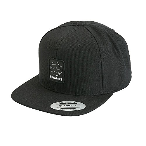 (Fishworks Fine Lines Snapback Hat - Black - One size fits all)