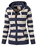 Comfy Women Lightweight Big Size Long Sleeved Striped Sweater As Picture 2XL