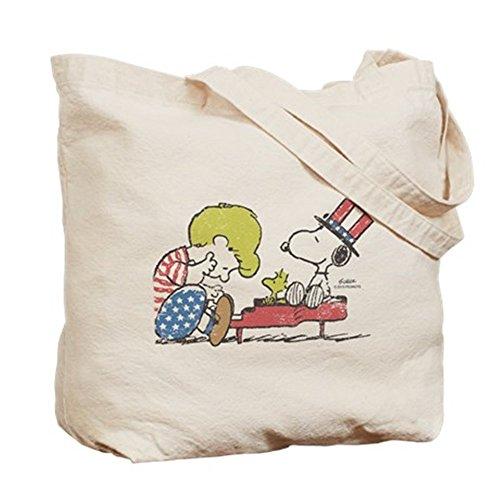 CafePress–Snoopy–Vintage Schroeder–Gamuza de bolsa de lona bolsa, bolsa de la compra