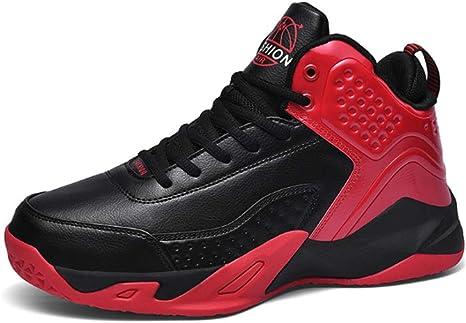 WFWPY Alto para Ayudar a los Zapatos Calzado de Baloncesto Calzado Deportivo Moda Correr Zapatillas Ligeros Transpirable Lace Up Zapatillas de Baloncesto,Rojo,US6.5/EU38: Amazon.es: Deportes y aire libre