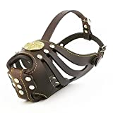 Bestia Maximus Basket Muzzle. Studded design. leather