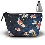 Unisex Stylish And Practical Goldfish Swim In The Starry Sky Trapezoidal Storage Bags Handbags