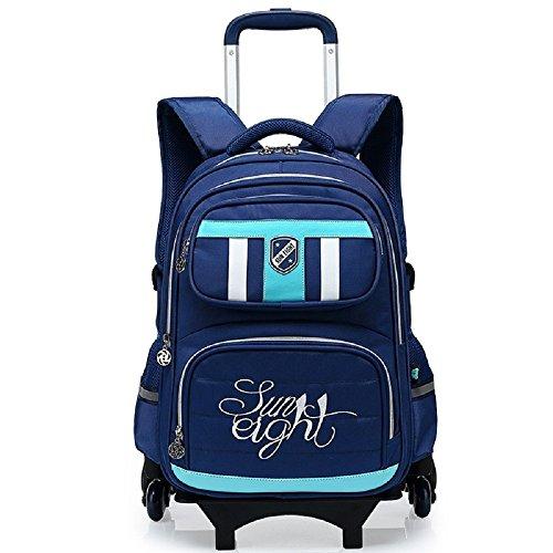 MinegRong Kinder Trolley Tasche Schüler Junge 6-12 Jährige Mädchen, Royal Blau Königsblau