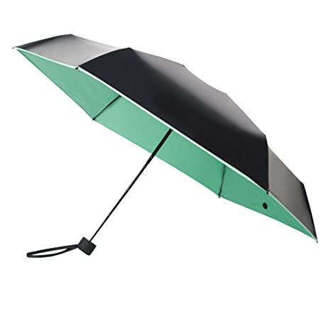 Zhuhaitf Mini Windproof Paraguas Plegable Hidrófugo Bloqueador Solar Prueba UV Paraguas Compacto para Llevar Fácilmente