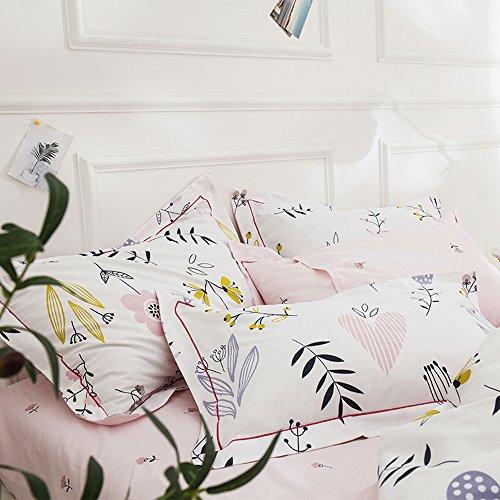 HIGHBUY 100% Cotton Floral Print Pillowcases Set (2pcs, 20