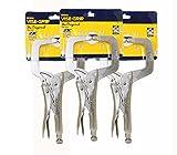 IRWIN Vise Grip 11R 11-Inch Regular Tip Locking C-Clamp, 3 Pack