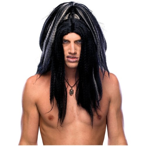 Voodoo Witch Doctor Costume (Rubie's Costume Voodoo Wig, Black/White, One Size)