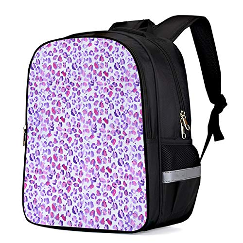 Purple Leopard Backpack Shoulder Computer Bag,School Bags for Boys Girls,Large Capacity Travel Daypack,Daily Use 13'11'6.3 ()