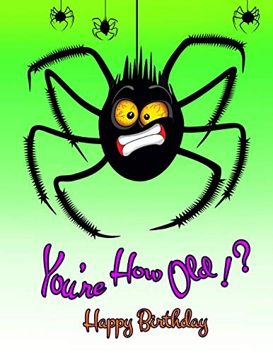 (Happy Birthday: You're How Old!?, Halloween Spider, Primary Writing Tablet for Kids, 65 Sheets of Practice Paper with 1