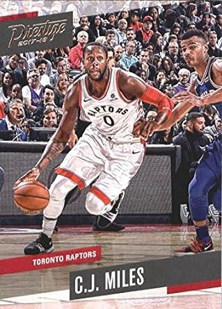 829eb7dcfcc Amazon.com: Basketball NBA 2017-18 Prestige #110 C.J. Miles Raptors ...