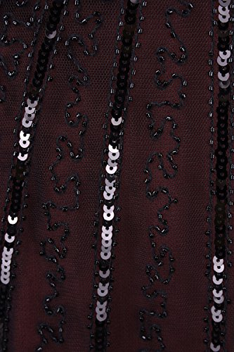 Inspired Art Beads Burgundy 1920s Deco PrettyGuide Dress Cocktail Women Dress Flapper xIpqww1ZYW