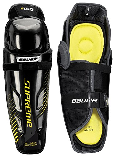 Bauer S17 Supreme S150 Junior Shin Guard, Grey/Black, 11''
