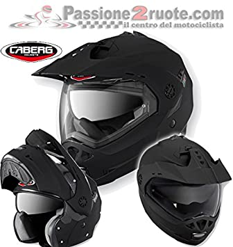554a126b Caberg Tourmax helmet Matt Black Matt S enduro casque modularhelm Modular  helmet: Amazon.co.uk: Car & Motorbike