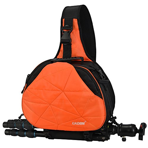 Caden DSLR Camera Sling Bag for 1 Camera, 3 Lens, Tripod, Rain Cover (Canon Nikon Sony Pentax)