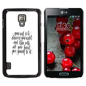 Be Good Phone Accessory // Dura Cáscara cubierta Protectora Caso Carcasa Funda de Protección para LG Optimus L7 II P710 / L7X P714 // all you