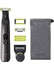 Philips OneBlade Pro Ansikte + kropp QP6550/30 Laddningsbart litiumjonbatteri, precisionskam med 14 längdinställningar, kan användas på våt och torr hud, digitalt teckenfönster
