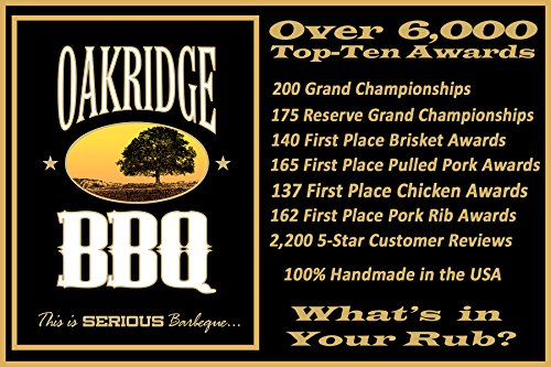 Oakridge BBQ The Ultimate Back Yard BarBQ Kit – Contains Eight (8) of the Most Popular Barbeque Rubs and Seasonings by Oakridge BBQ (Image #6)