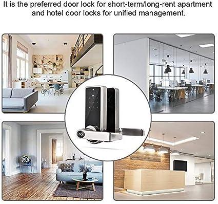 Cerradura de Puerta, Cerradura Inteligente electrónica Smart BT Contraseña sin Llave de Toque Conjunto Seguridad para Oficina Hotel Apartamento: Amazon.es: Bricolaje y herramientas