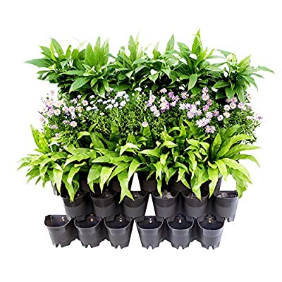 Homes Garden Self-Watering Vertical Garden Planter Living Wall Indoor Outdoor Gray 14 Pack (42 Pockets) #G-V101A07-US