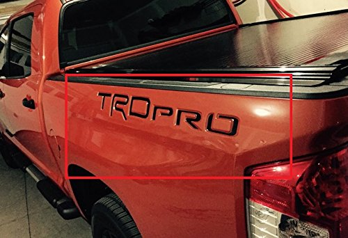 BDTrims | TRD Pro Letters for Toyota Tundra 2014-2019 Truck Bed Plastic Inserts (Black)