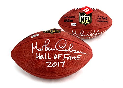 Atlanta Falcons Hall Of Fame - Morten Andersen Signed Wilson Authentic NFL Football with
