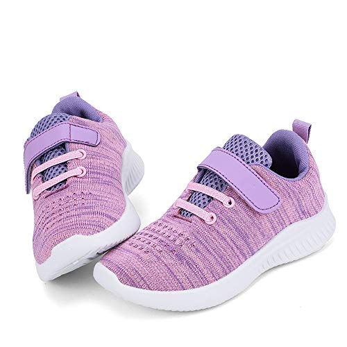 nerteo Cute Toddler Shoes Girls Kids Tennis Walking Shoes Sport Running Sneakers Purple/Pink 6 M US Toddler -