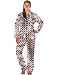 Womens Premium 100% Cotton Flannel Pajama Sleepwear Set