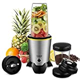 CHULUX Smoothie Blender, High-Speed Bullet Blender and Grinder, One-Button Auto Mixing, 1000W Power Blender with 2 Tritan Cups(35oz & 15oz) For Sale