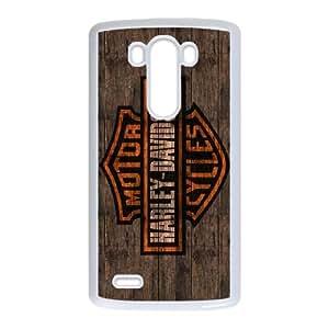 LG G3 Cell Phone Case White Harley Davidson